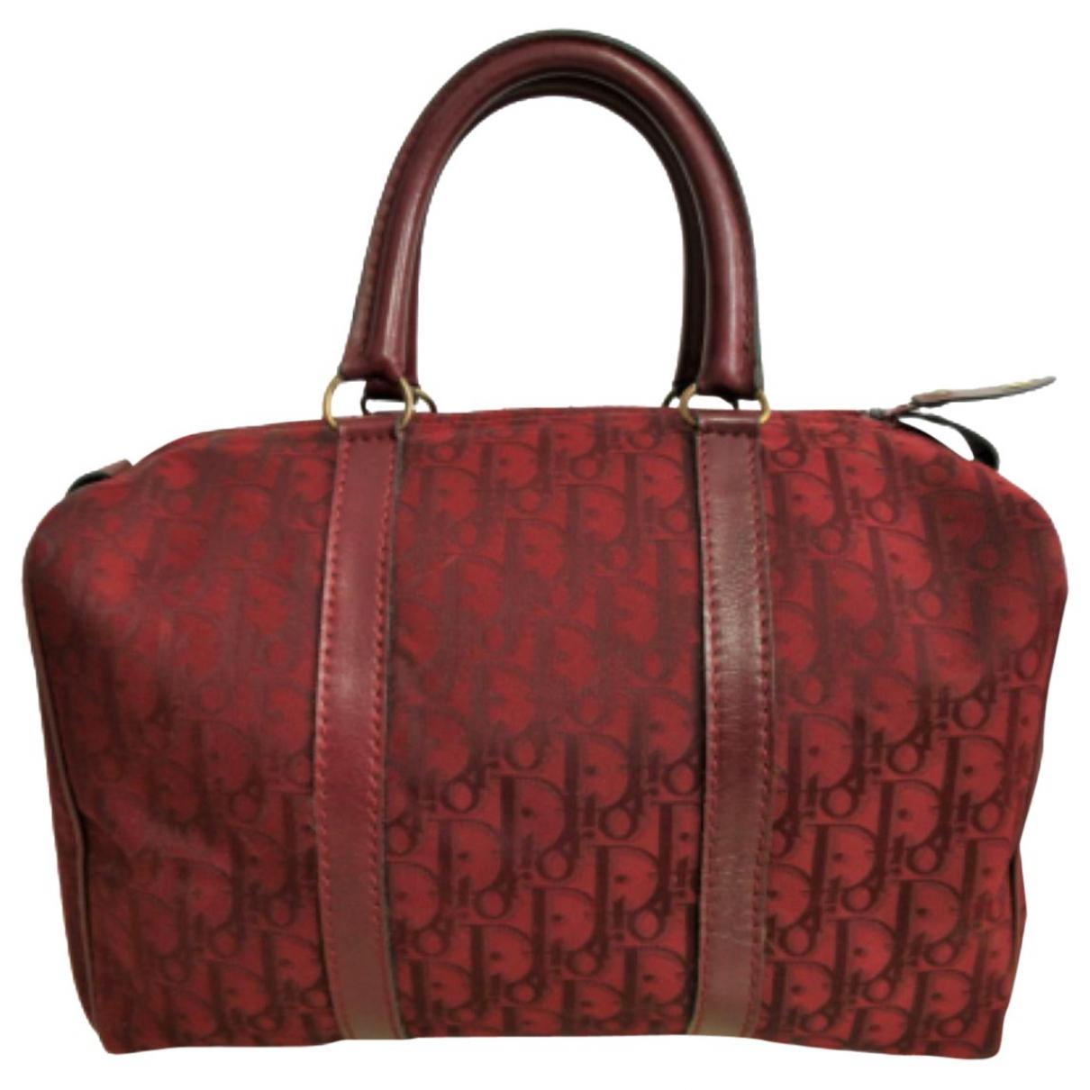 Dior \N Reisetasche in  Bordeauxrot Leinen