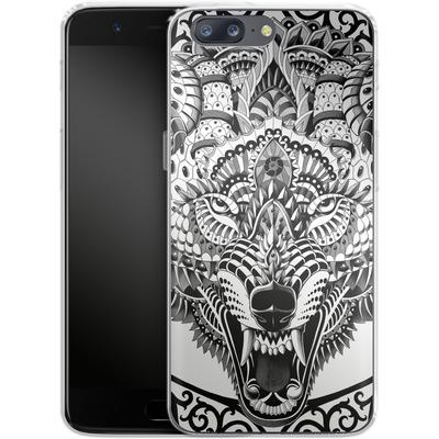OnePlus 5 Silikon Handyhuelle - Wolf Head von BIOWORKZ