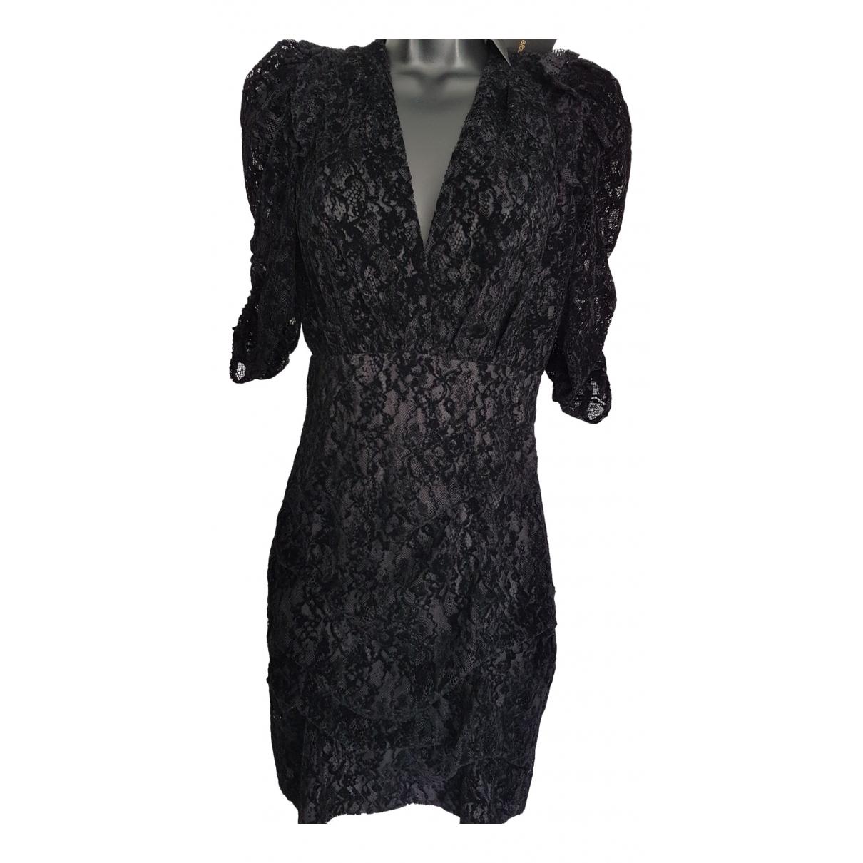Maje - Robe   pour femme en velours - noir