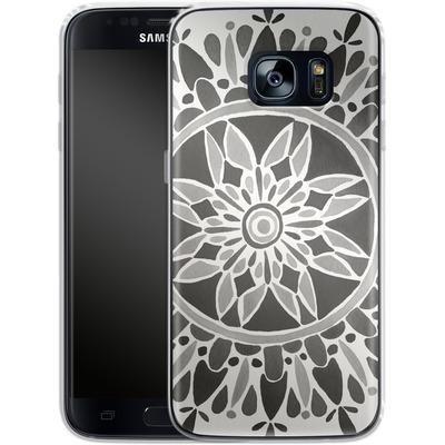 Samsung Galaxy S7 Silikon Handyhuelle - Mandala Black von Cat Coquillette