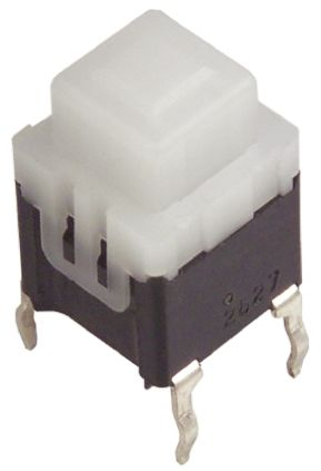 Panasonic Lever Tactile Switch, Single Pole Single Throw (SPST) 100 mA @ 14 V dc Through Hole (2)
