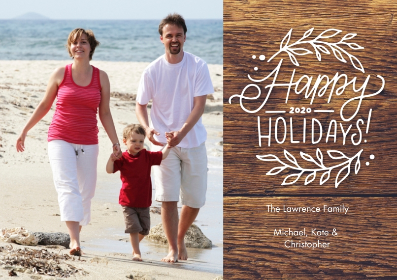 Holiday Photo Cards 5x7 Cards, Standard Cardstock 85lb, Card & Stationery -Holiday 2020 Foliage by Tumbalina