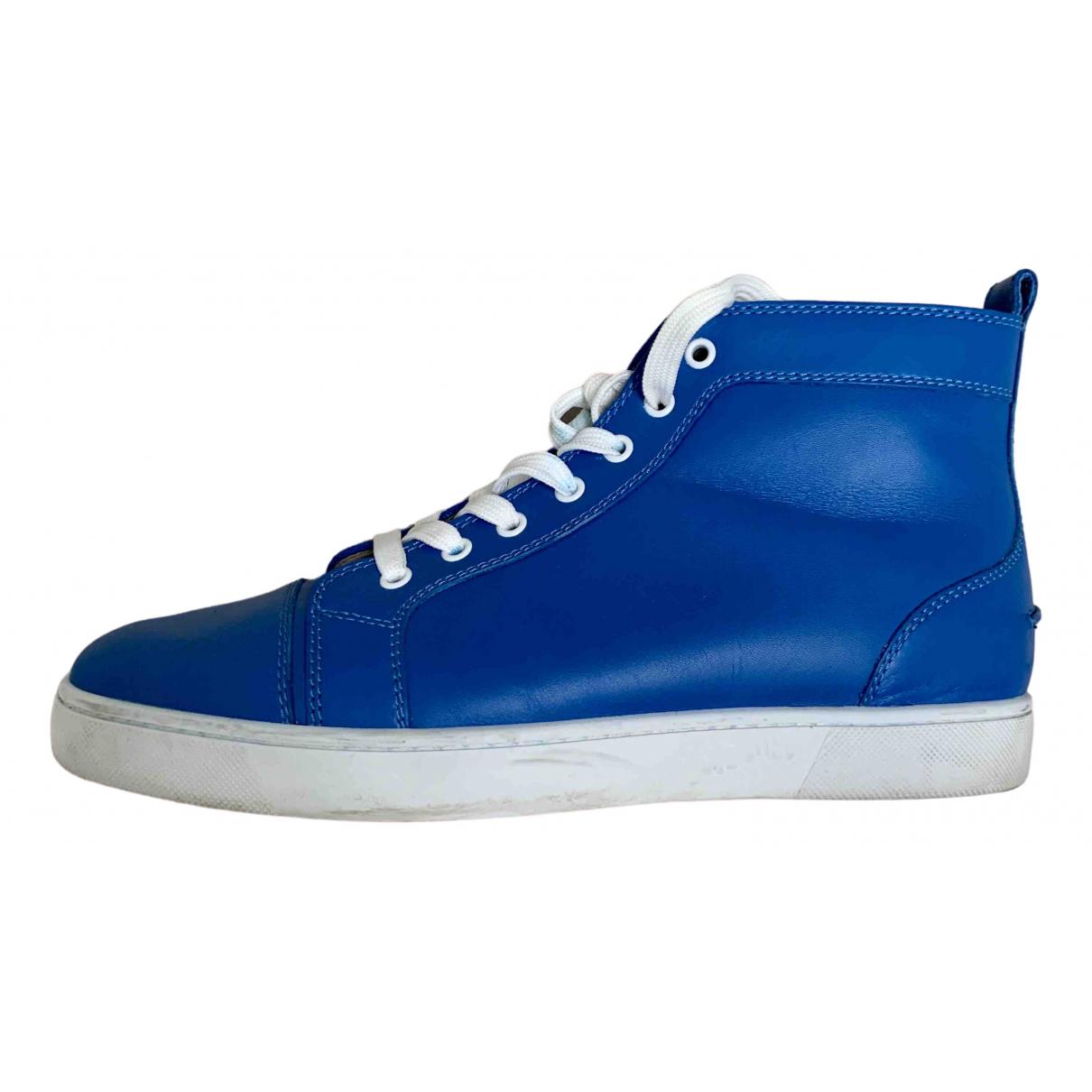 Christian Louboutin \N Sneakers in  Blau Leder