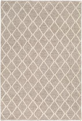 Whistler WSR-2303 9' x 13' Rectangle Modern Rugs in Medium Gray
