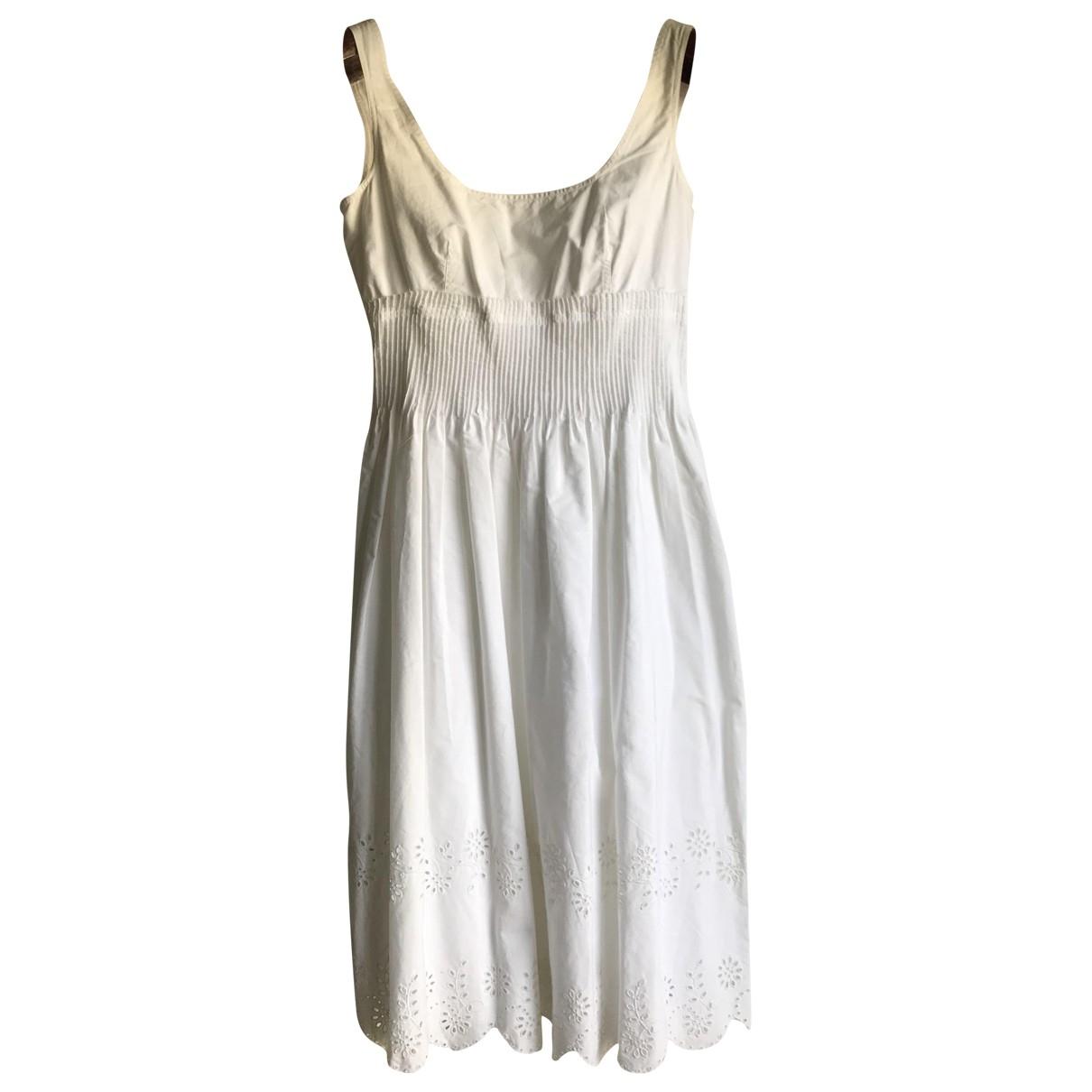 Burberry \N Kleid in  Weiss Baumwolle