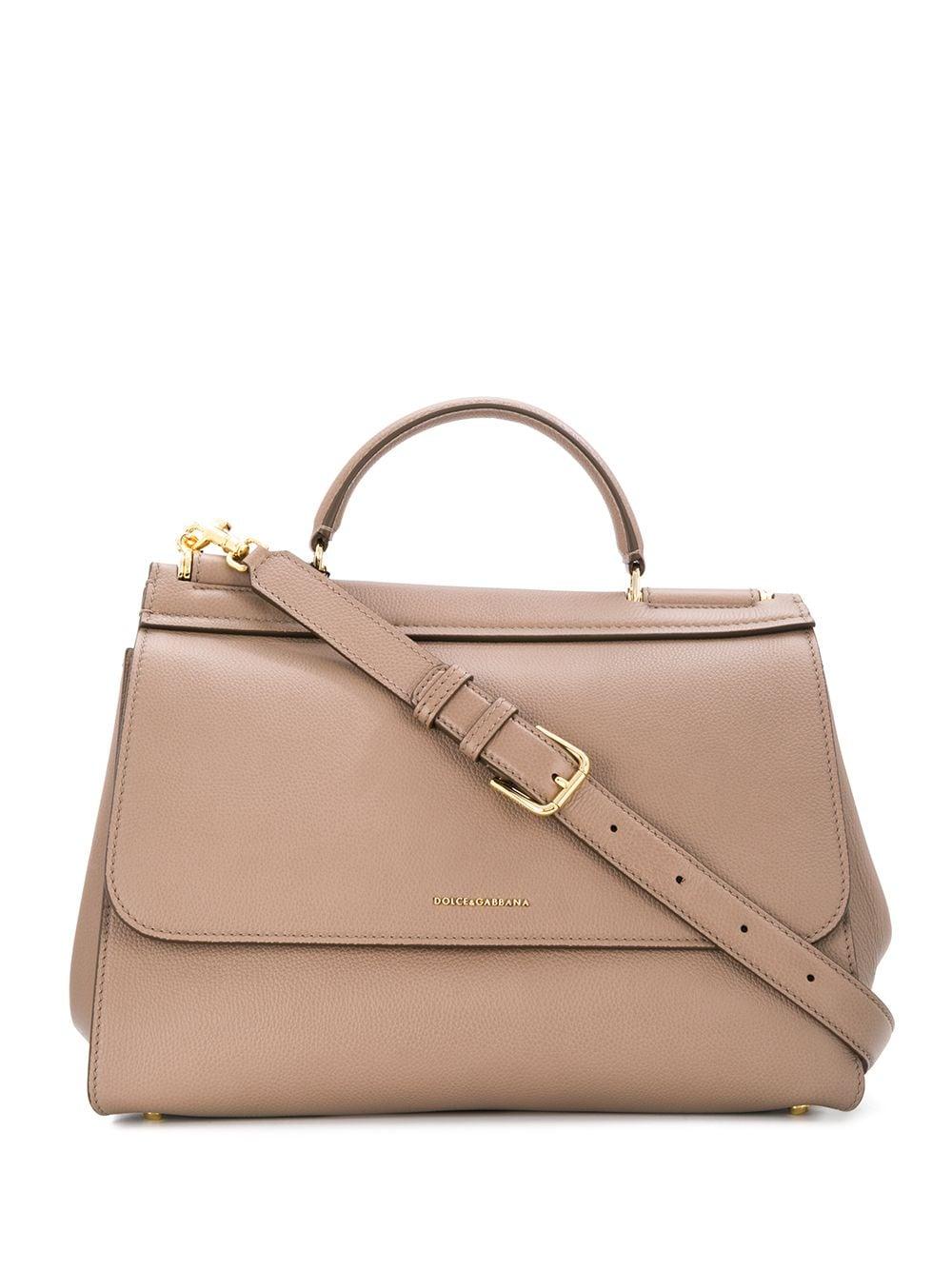 Medium Miss Sicily Leather Handbag