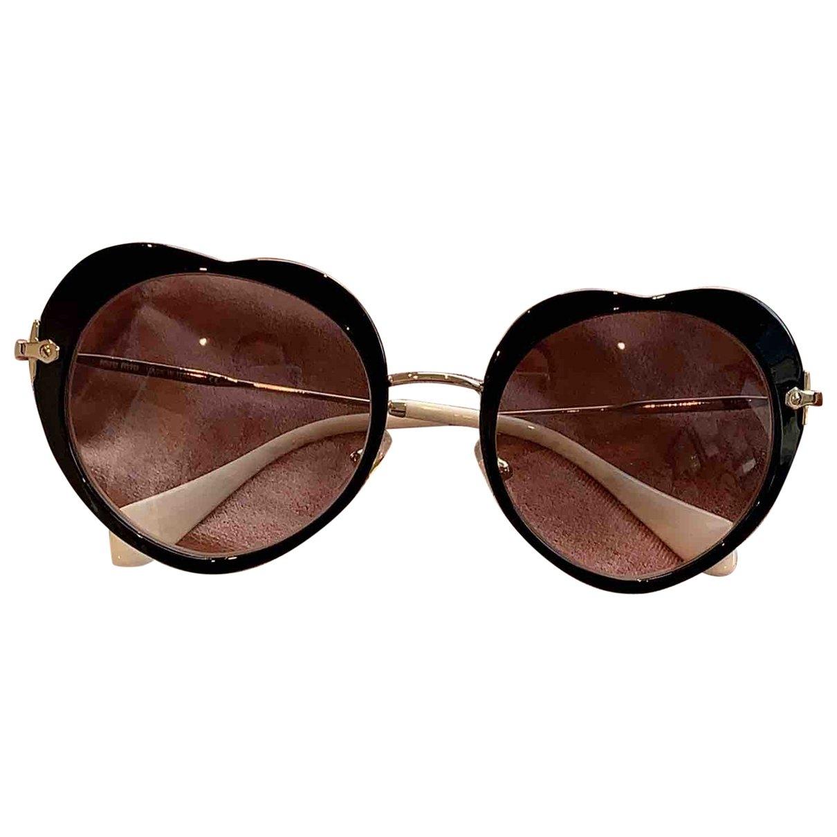 Miu Miu \N Black Metal Sunglasses for Women \N