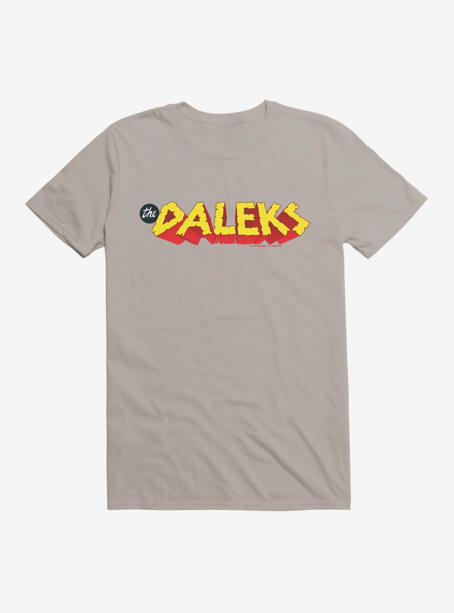 Doctor Who The Daleks Rock Boulder Script T-Shirt