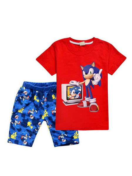 Milanoo Sonic The Hedgehog Kids Size Halloween Outfit