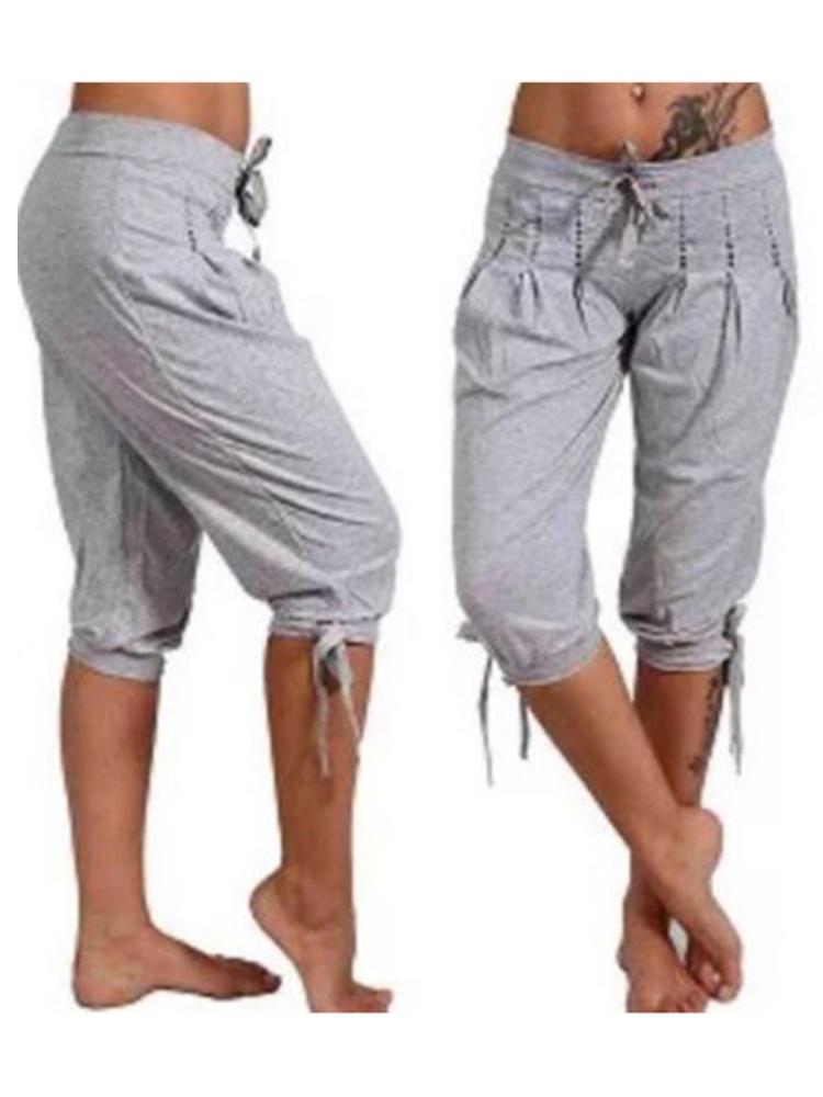 Casual Women Solid Color Harem Sport Pants