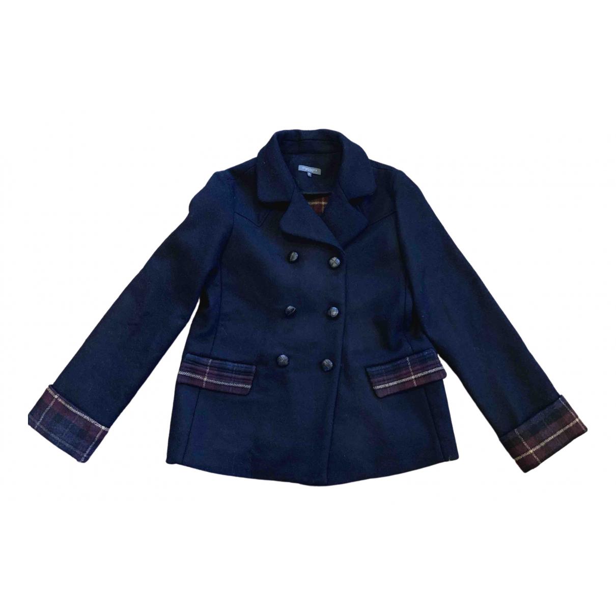 Afterpants - Manteau   pour femme en laine - marine