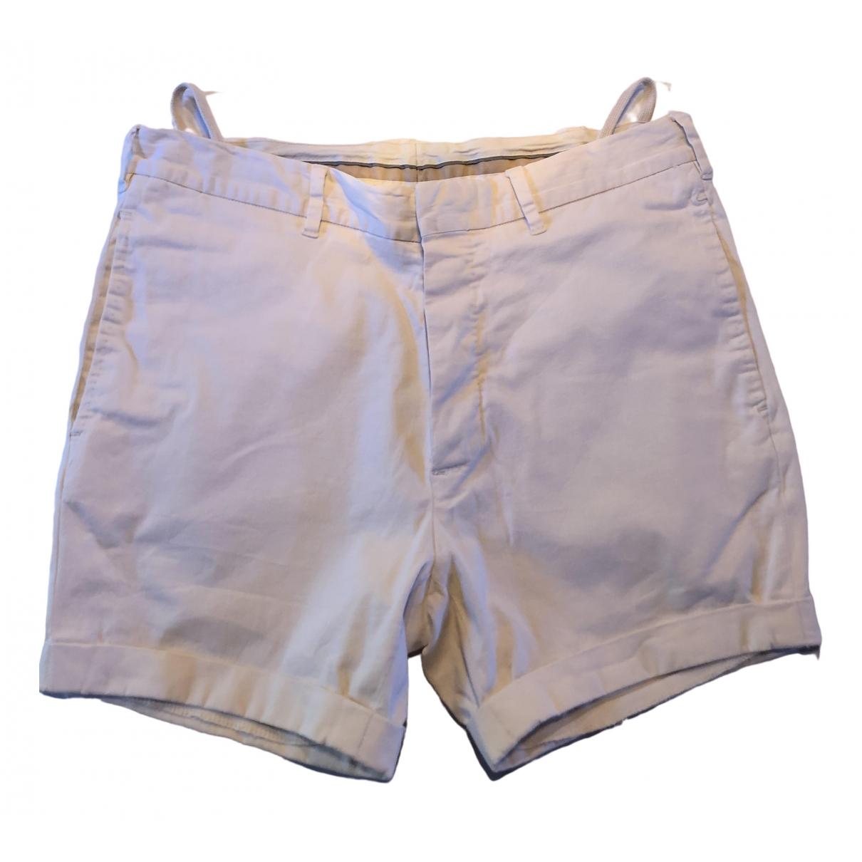 Helmut Lang \N White Cotton Shorts for Men 50 IT