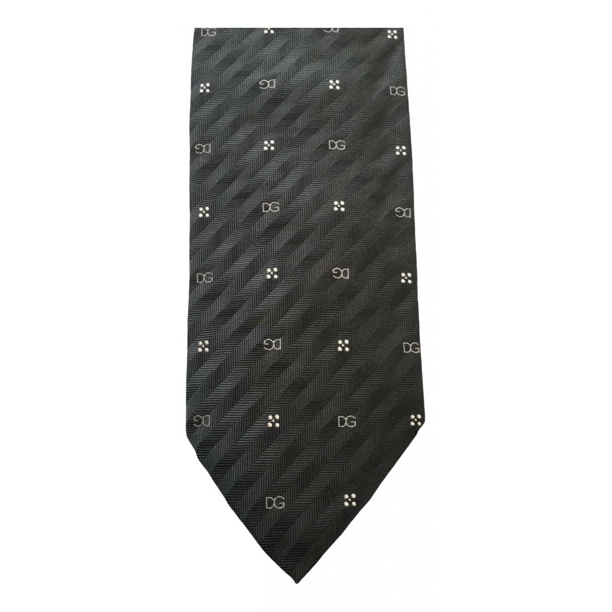 Dolce & Gabbana \N Krawatten in  Grau Seide
