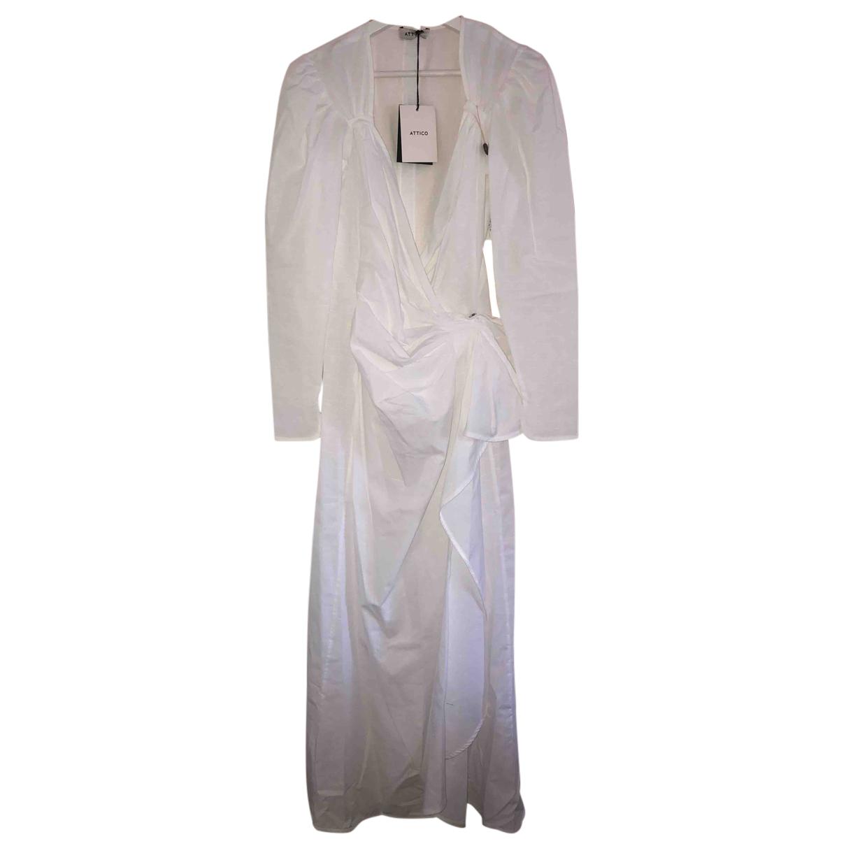 Attico - Robe   pour femme en coton - blanc