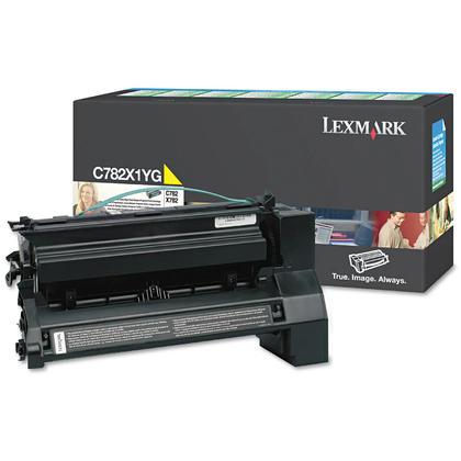 Lexmark C782X1YG Original Yellow Return Program Toner Cartridge Extra High Yield