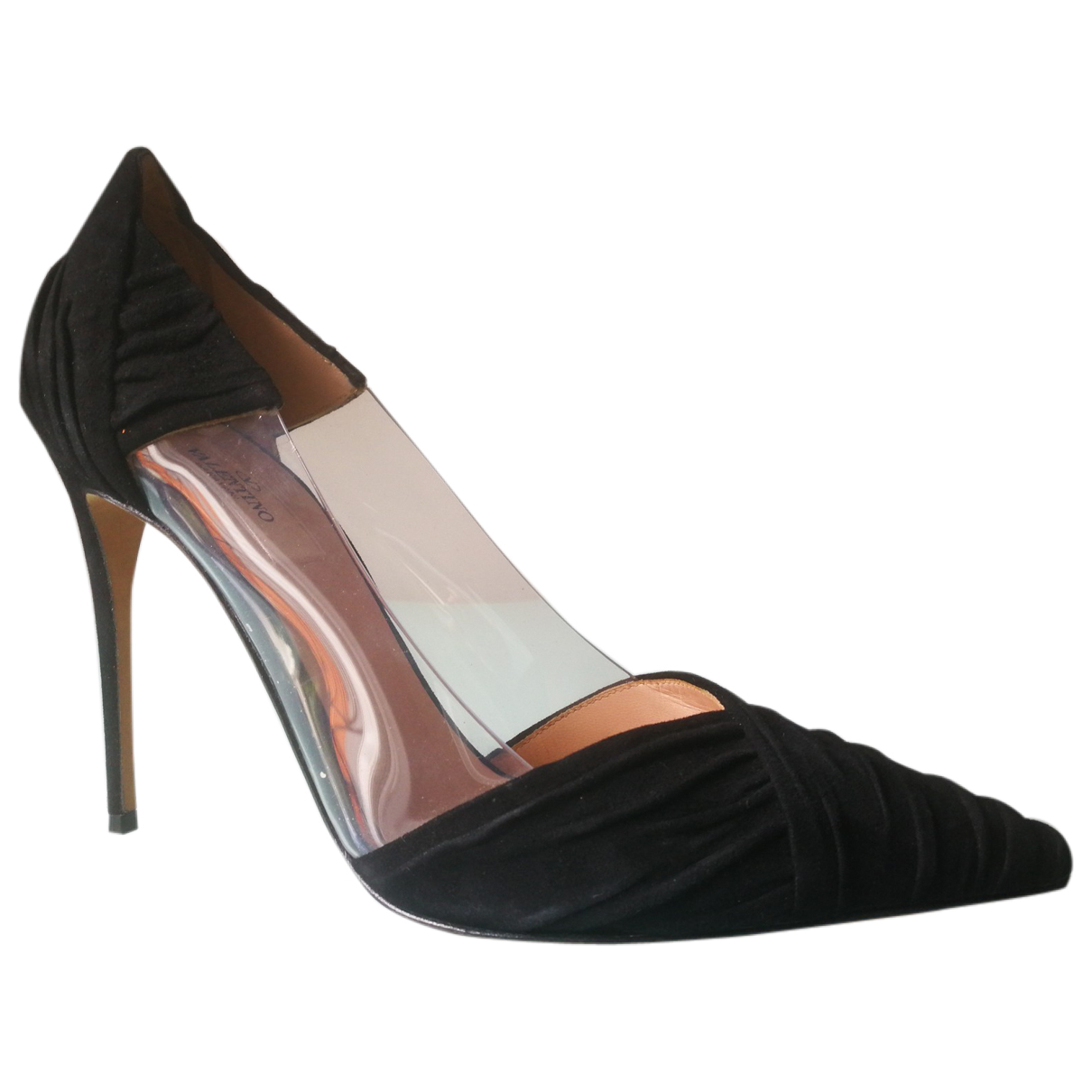 Valentino Garavani \N Black Velvet Heels for Women 37.5 EU