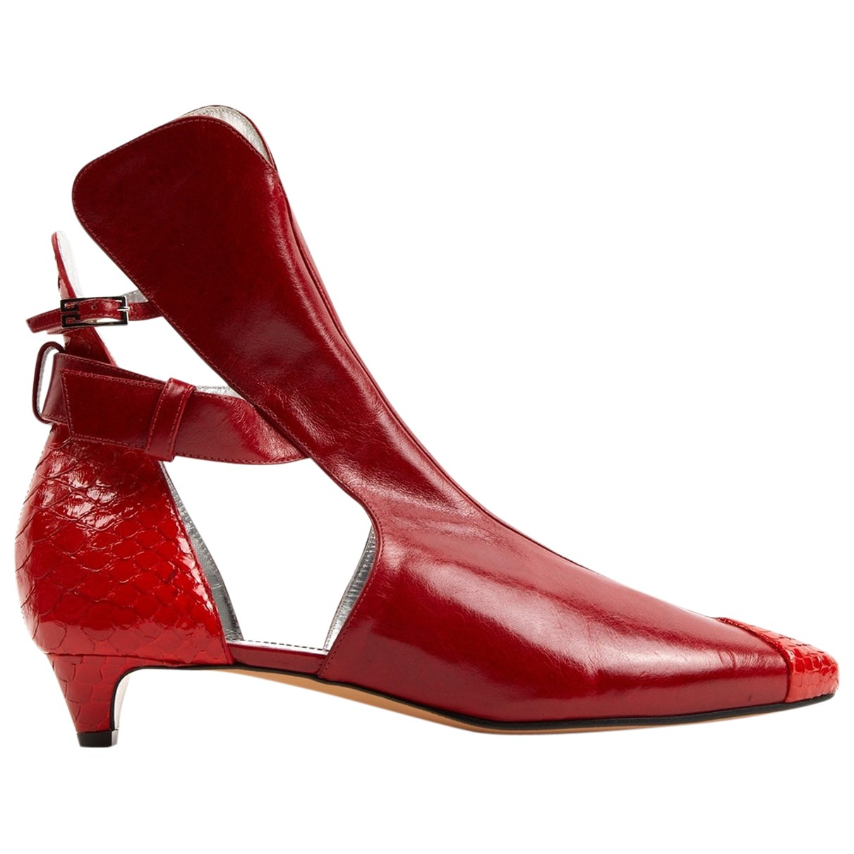Givenchy \N Stiefeletten in  Rot Leder