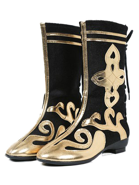 Milanoo Red Chinese Style Cosplay Shoes Polyester Cosplay Boots