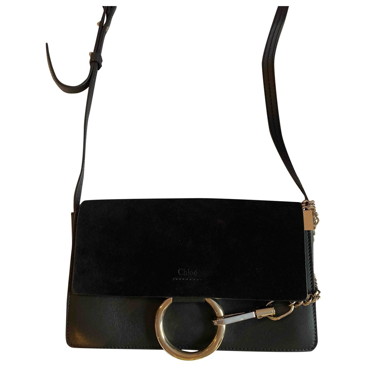 Chloé Faye Black Leather handbag for Women \N