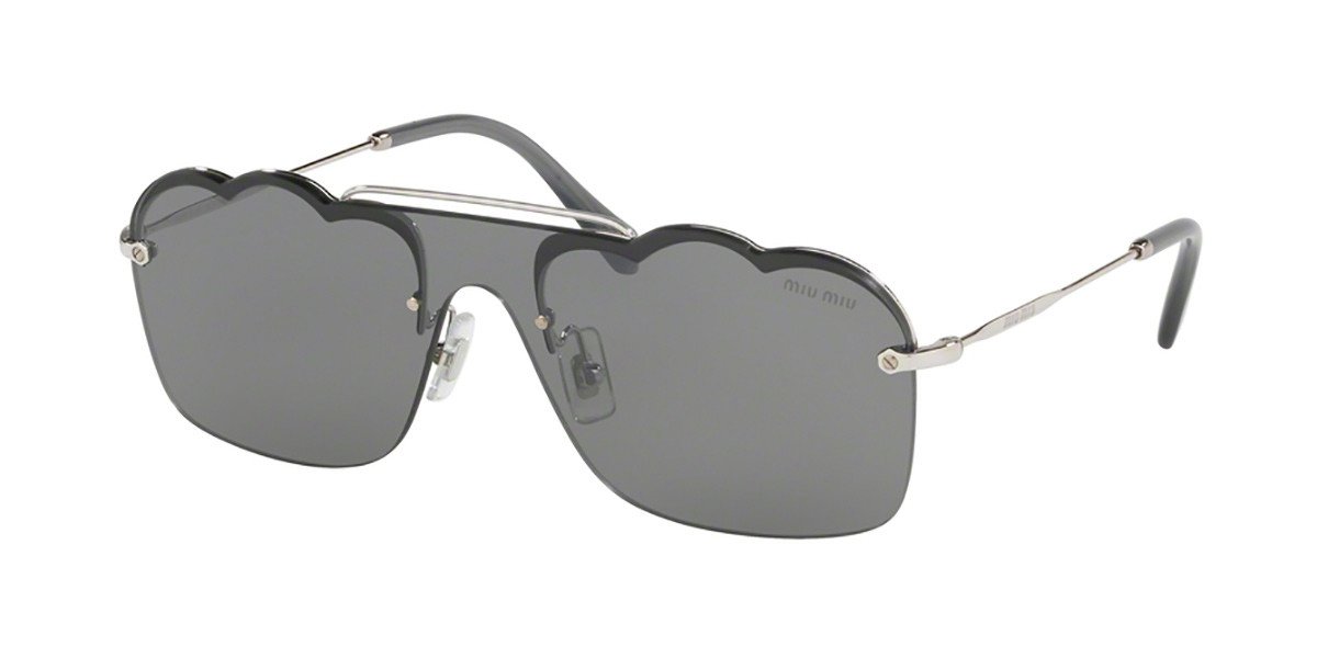 Miu Miu MU55US 1BC175 Women's Sunglasses Silver Size 33