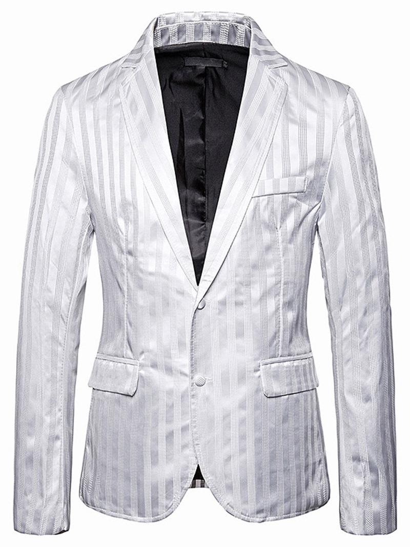 Ericdress Stripe Button Single-Breasted Men's leisure Blazer