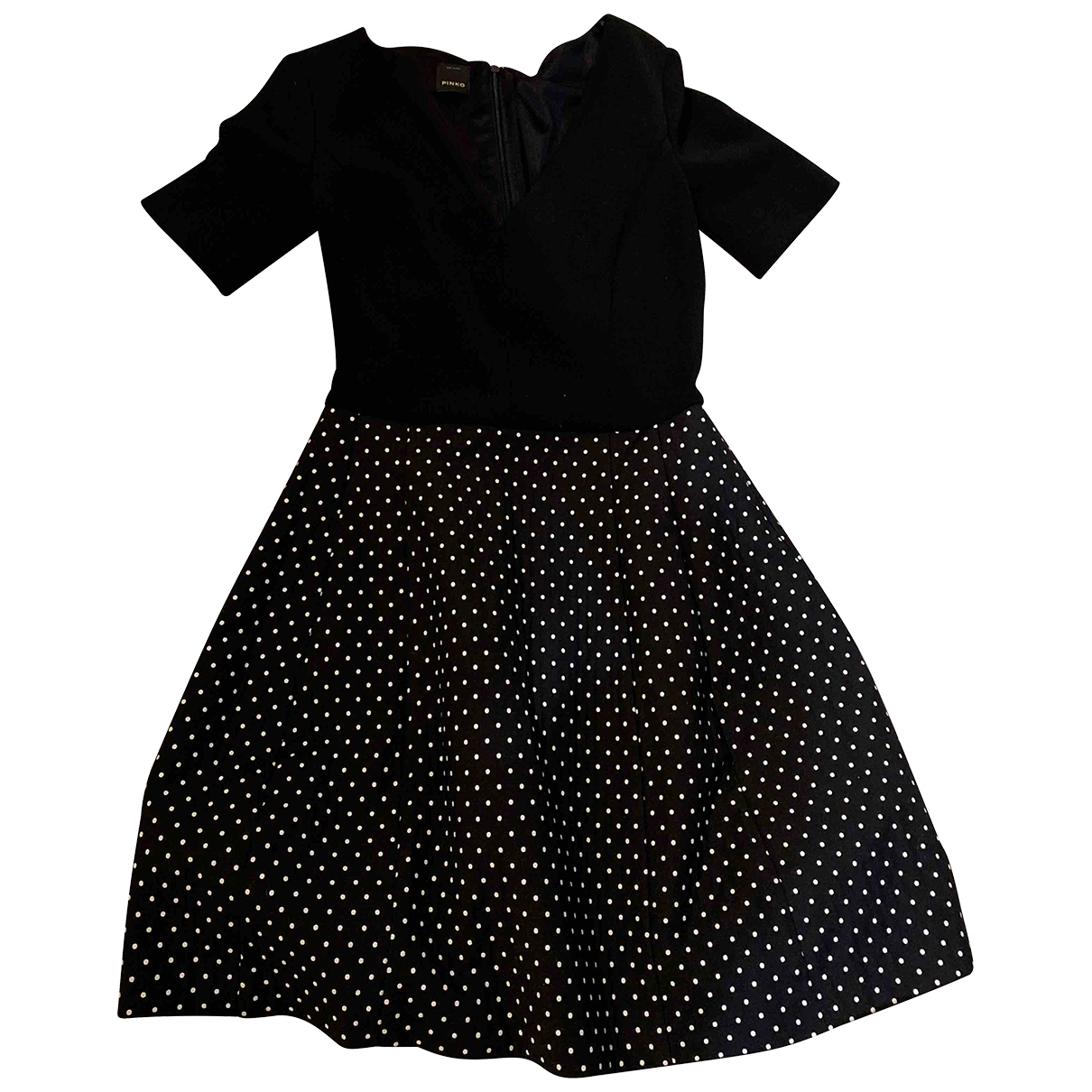 Pinko \N Kleid in  Schwarz Baumwolle - Elasthan