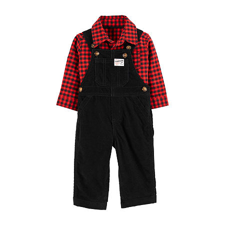 Carter's Baby Boys 2-pc. Overall Set, 6 Months , Red