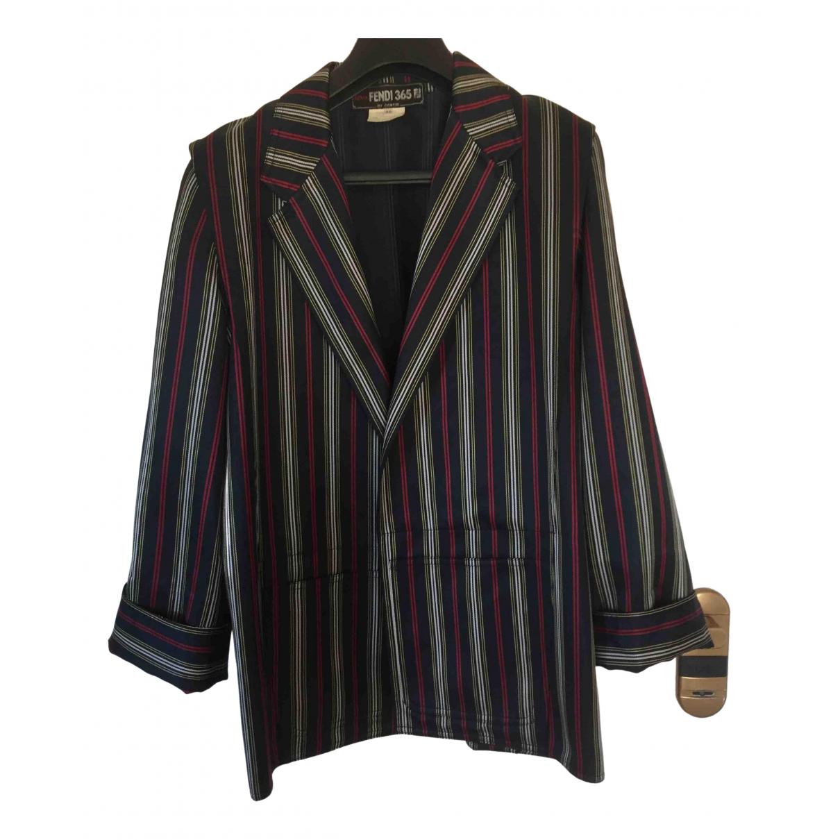 Fendi \N Blue Silk jacket for Women 42 IT