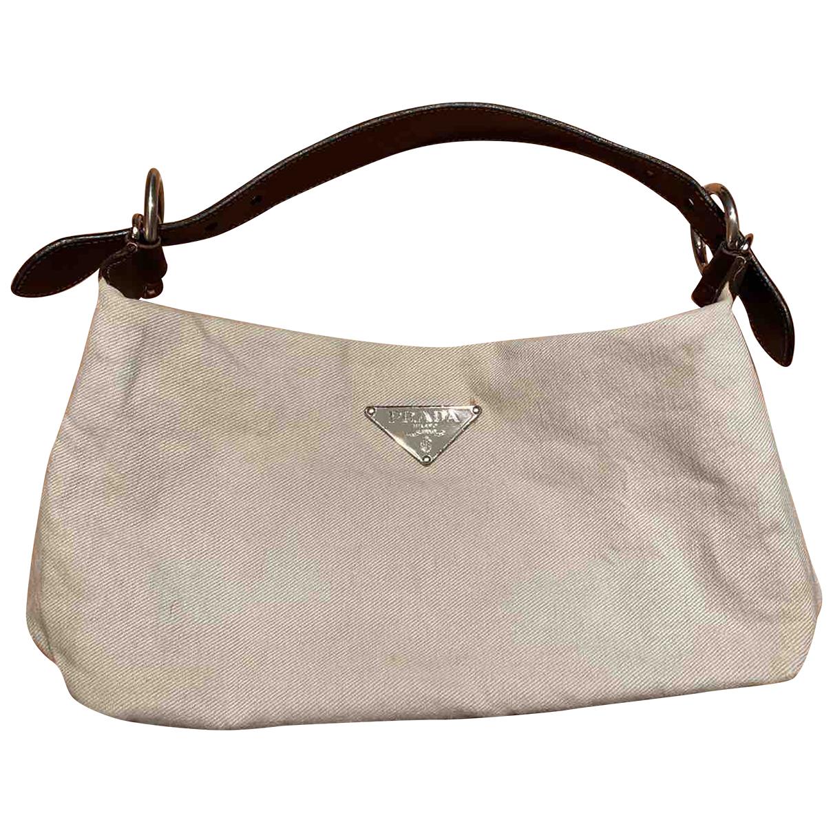 Prada - Sac a main Tessuto  pour femme en coton - blanc