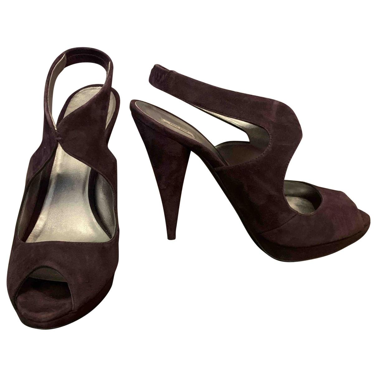 Miu Miu \N Purple Suede Sandals for Women 40 EU