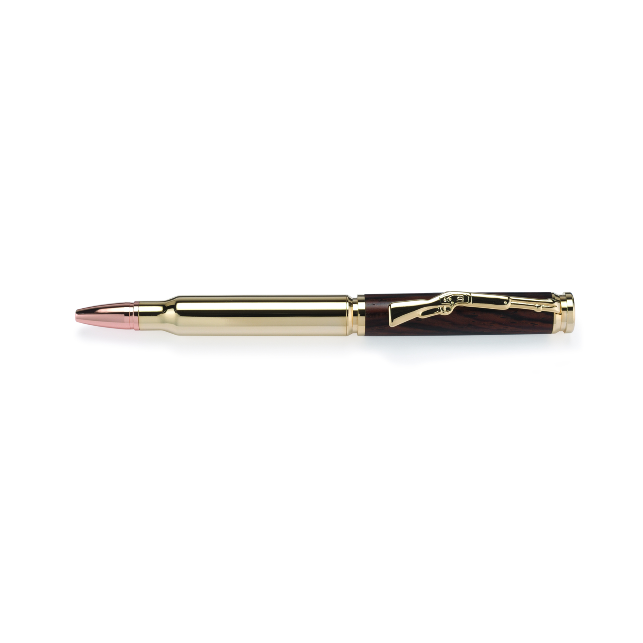 Cartridge Bullet Ballpoint Pen Kit - Woodcraft Gold
