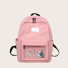 Letter & Cartoon Graphic Backpack