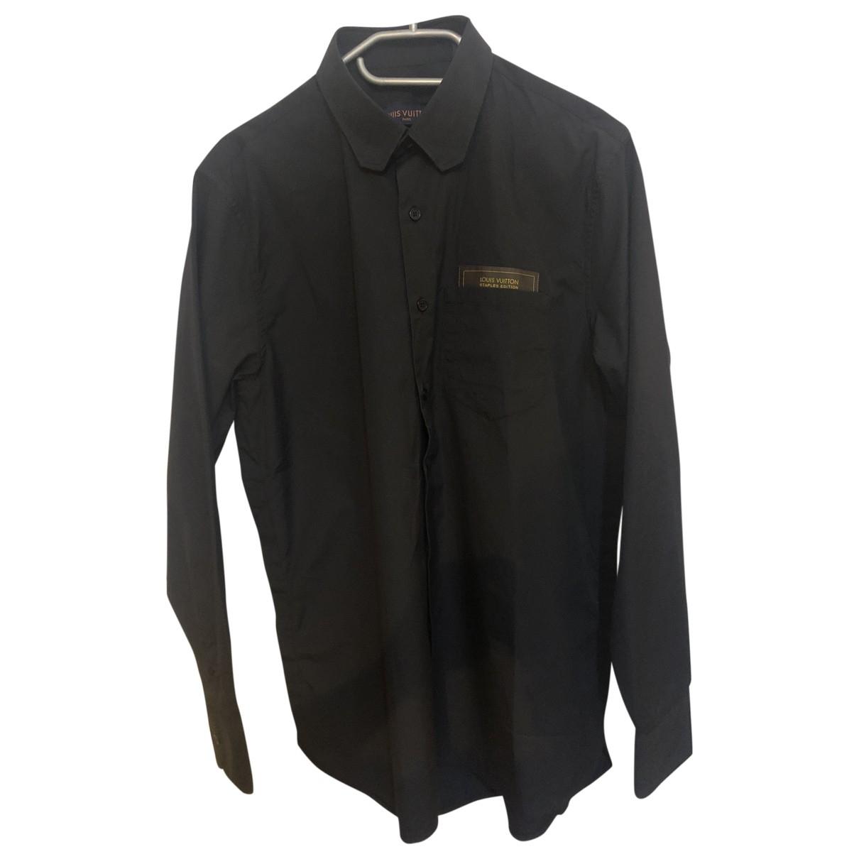 Louis Vuitton \N Navy Cotton Shirts for Men S International