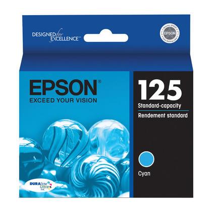 Epson 125 T125220 cartouche d'encre originale cyan