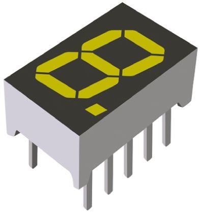 ROHM LAP-301YB  LED LED Display, CA Yellow 450 mcd RH DP 8mm (5)
