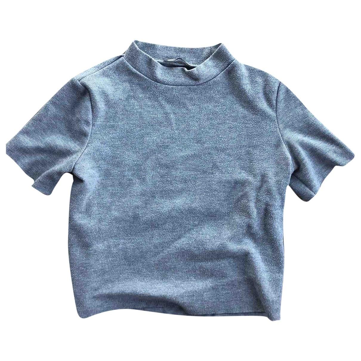 Zara \N Grey Cotton  top for Women 38 FR