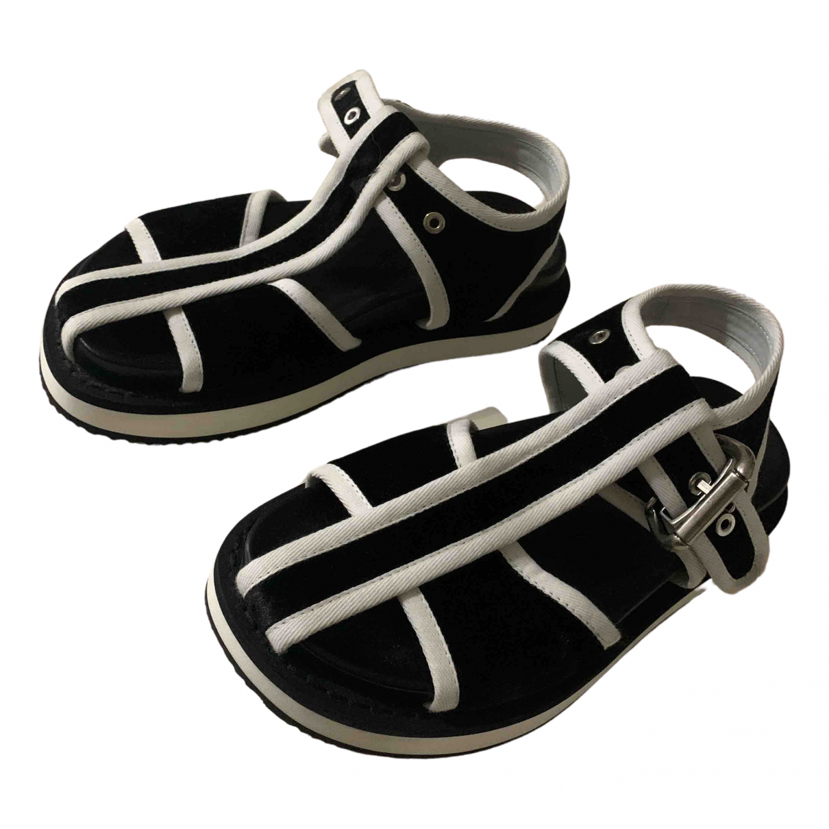 Mm6 \N Sandalen in  Schwarz Samt