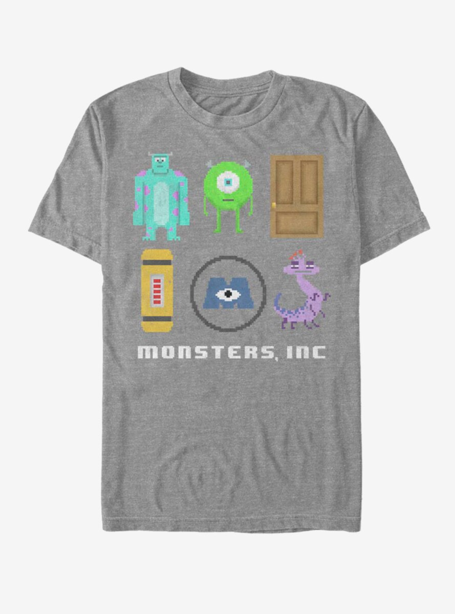 Disney Pixar Monsters, Inc. Pixel Squad T-Shirt