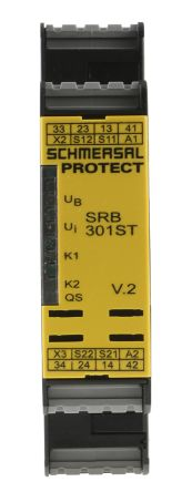 Schmersal SRB 301ST 24 V ac/dc Safety Relay Single or Dual Channel - PROTECT Range