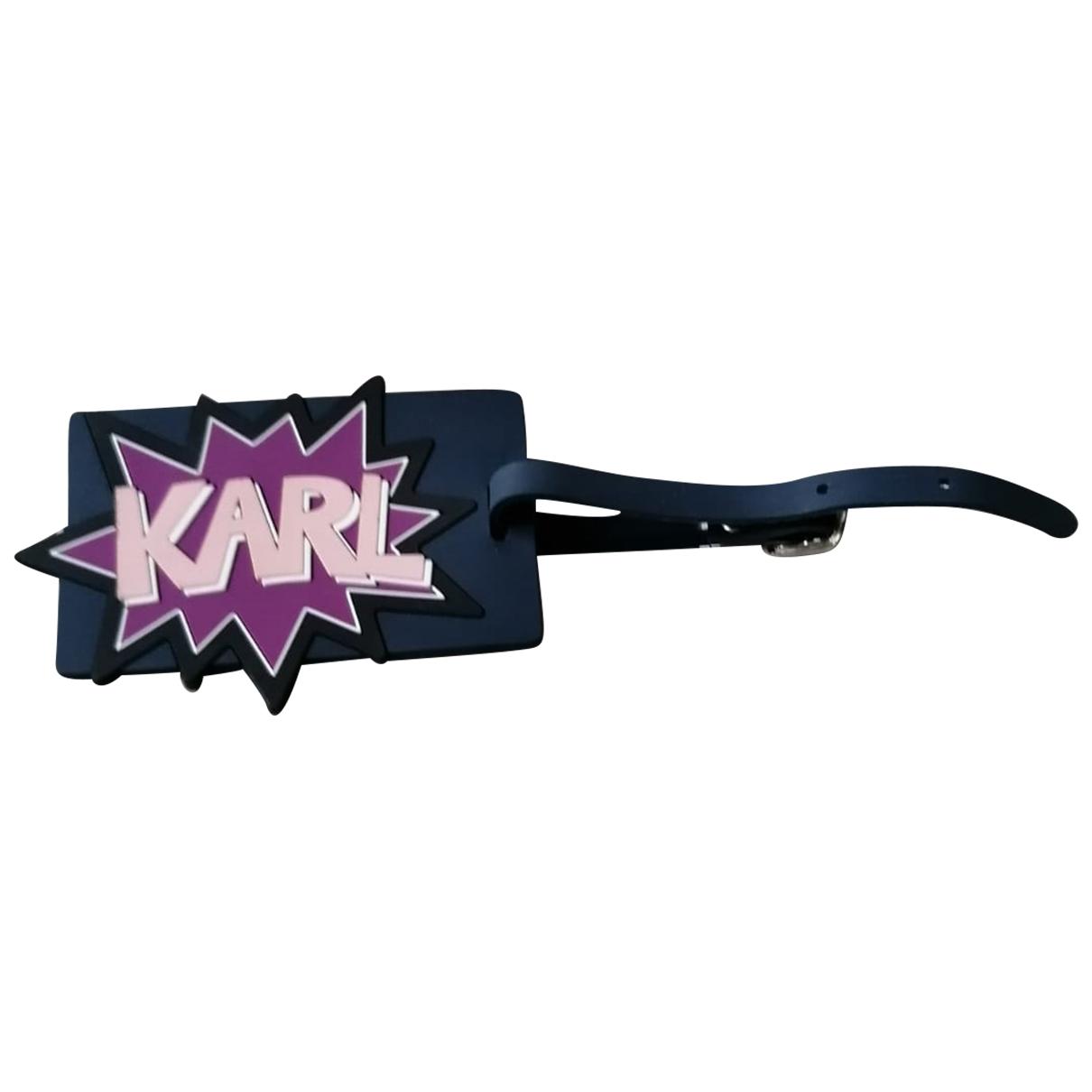 Karl Lagerfeld \N Taschenschmuck in  Blau Leinen