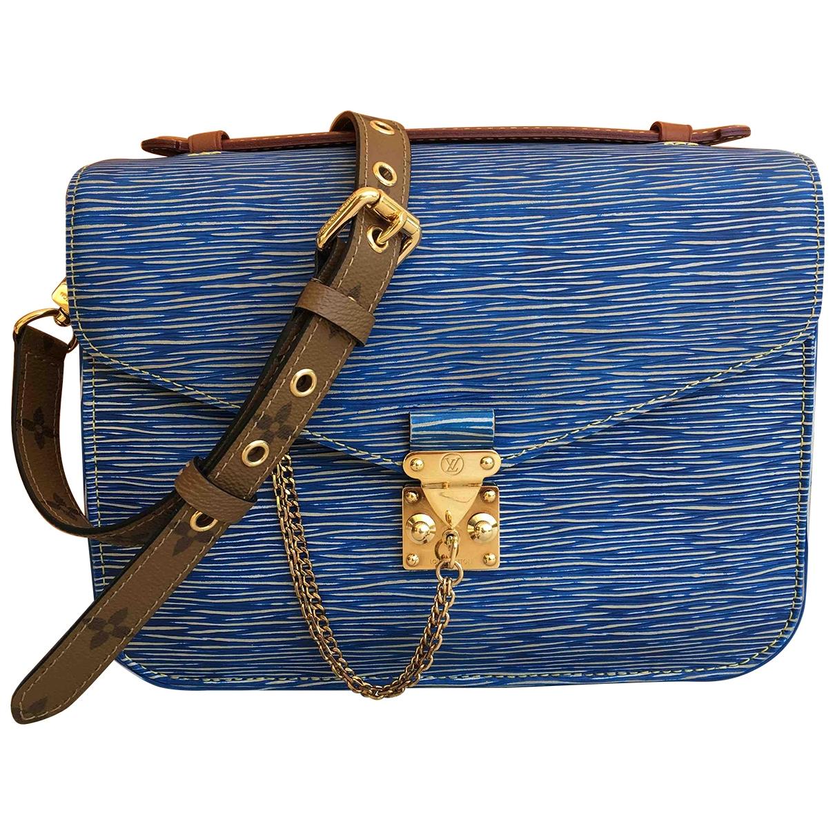 Louis Vuitton - Sac a main Metis pour femme en cuir - bleu