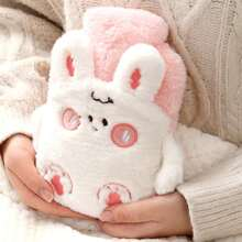 1pc Cartoon Rabbit Shaggy Hot Water Bag
