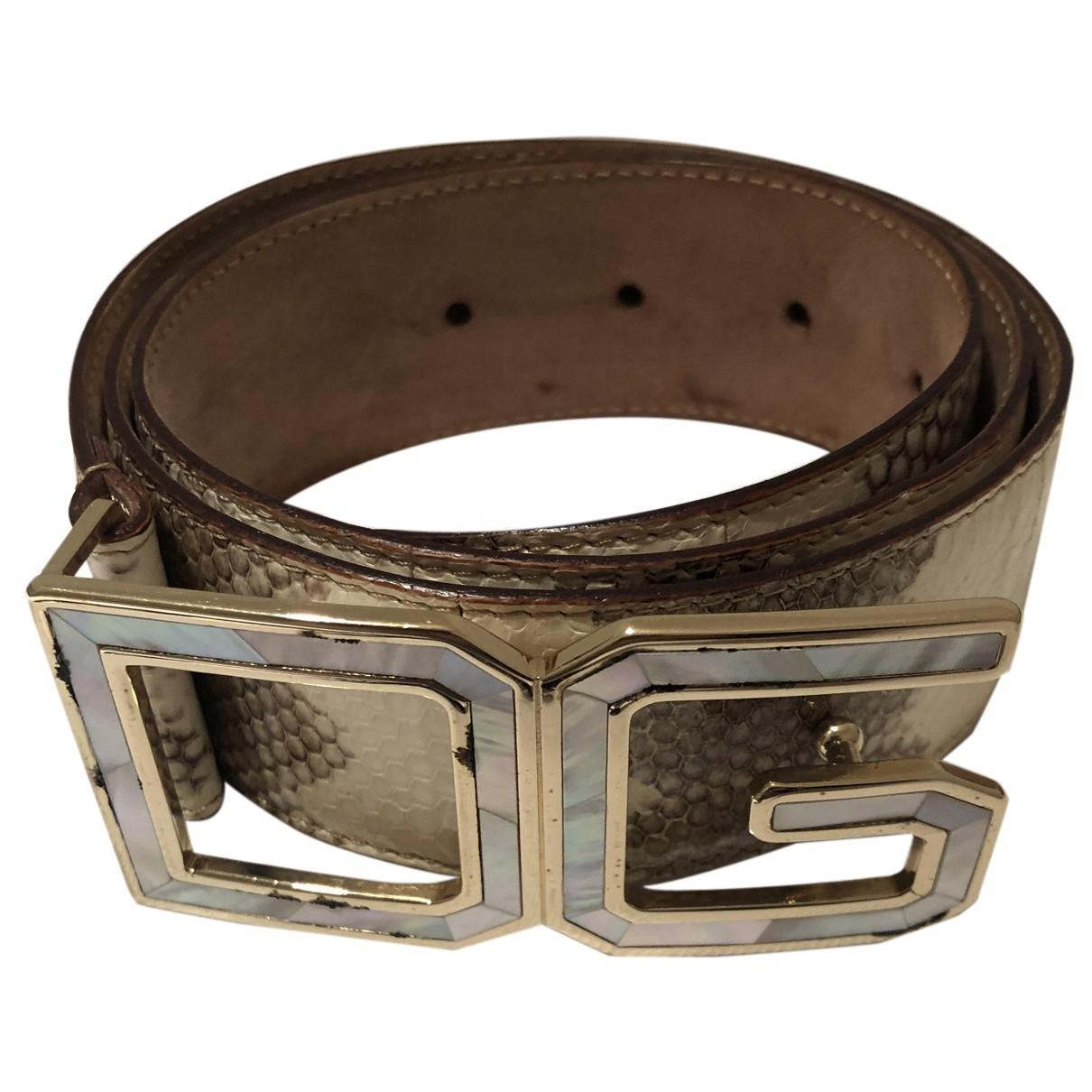 Dolce & Gabbana N Beige Eel belt for Women S International
