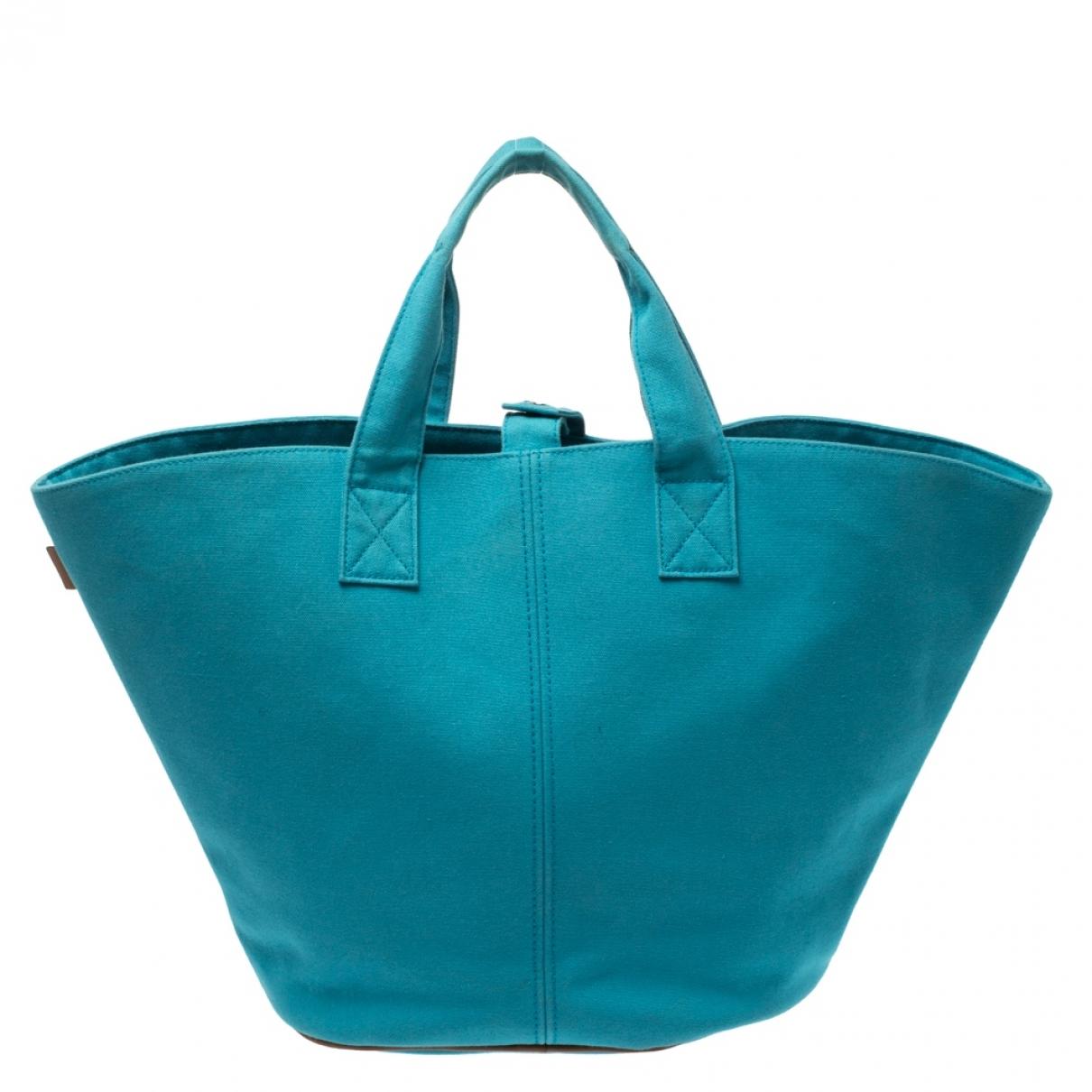 Hermès \N Blue Cloth handbag for Women \N