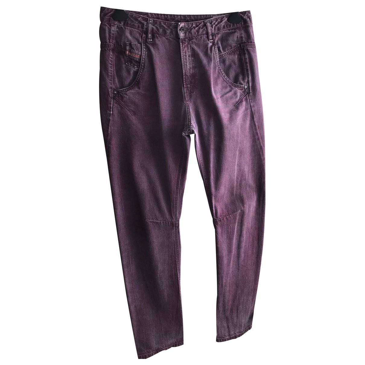 Diesel \N Purple Cotton Jeans for Women 30 US