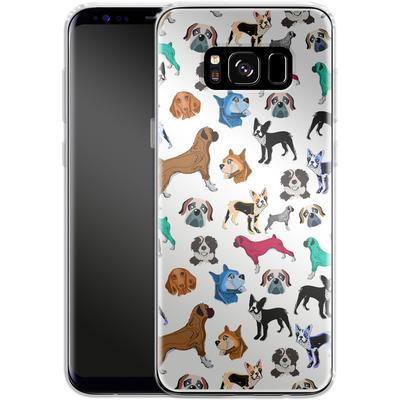 Samsung Galaxy S8 Silikon Handyhuelle - Puppy Love von Mukta Lata Barua