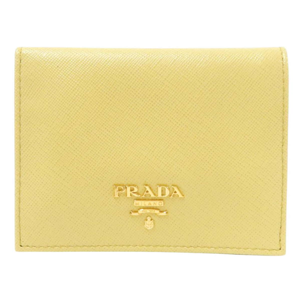 Prada \N Yellow Leather Small bag, wallet & cases for Men \N