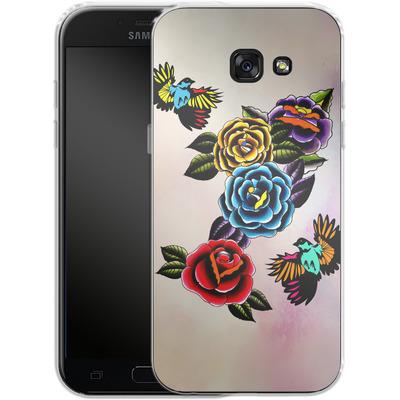 Samsung Galaxy A5 (2017) Silikon Handyhuelle - Tattoo Roses von Mark Ashkenazi