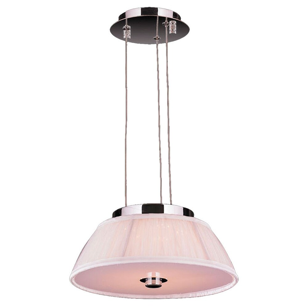 Worldwide W83953C12WH LED Pendant Alice Polished Chrome - One Size (One Size - Clear)