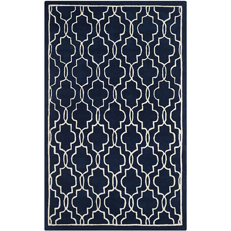 Safavieh Emmit Geometric Hand Tufted Wool Rug, One Size , Blue